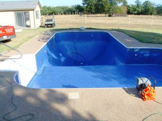 NEW POOL LINER REPLACEMENT